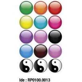Etikety RAYFILM STICKERS - nálepky guľôčky (motív A) 75ks/5 listov *RP01000013J RP0100.0013J
