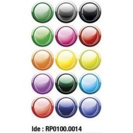 Etikety RAYFILM STICKERS - nálepky guľôčky (motív B) 75ks/5 listov *RP01000014J RP0100.0014J