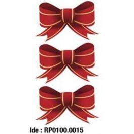 Etikety RAYFILM STICKERS - nálepky vianočná mašľa (motív A) 15ks/5 listov *RP01000015J RP0100.0015J
