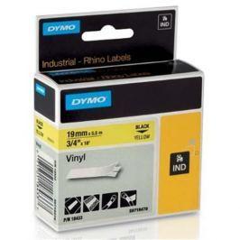 páska DYMO 18433 PROFI D1 RHINO Black On Yellow Vinyl Tape (19mm) S0718470