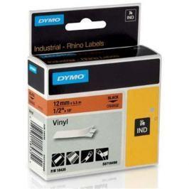 páska DYMO 18435 PROFI D1 RHINO Black On Orange Vinyl Tape (12mm) S0718490