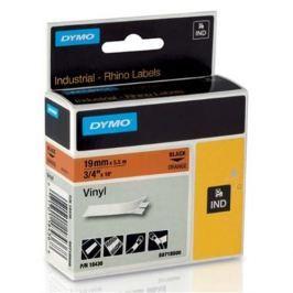 páska DYMO 18436 PROFI D1 RHINO Black On Orange Vinyl Tape (19mm) S0718500