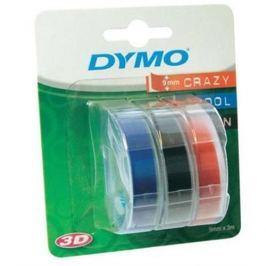 páska DYMO 3D Blue/Black/Red Tape (9mm) 3ks S0847750