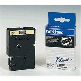 Páska BROTHER TC301 Gold On Black Tape (12mm)