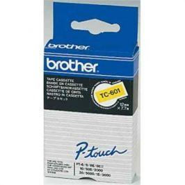 Páska BROTHER TC601 Black On Yellow Tape (12mm)