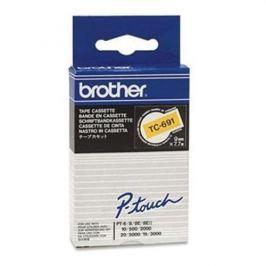 Páska BROTHER TC691 Black On Yellow Tape (9mm)