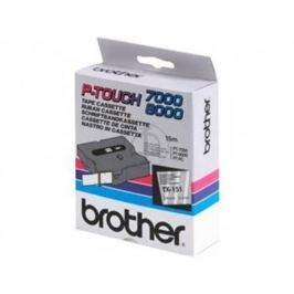 Páska BROTHER TX151 Black On Clear Tape (24mm)