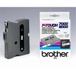 Páska BROTHER TX211 Black On White Tape (6mm)