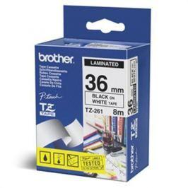 Páska BROTHER TZ261 Black On White Tape (36mm) TZ261CIV
