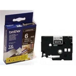 Páska BROTHER TZ-315 čierna / biela (6mm Laminovaná) TZ315