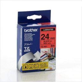 Páska BROTHER TZ-451, červená/ čierna - 1ks (24mm, lamin.) TZ451