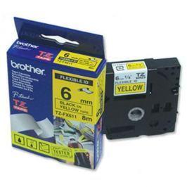 Páska BROTHER TZ-611, žltá / čierna (6mm laminovaná) TZ611
