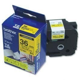Páska BROTHER TZ-661, žltá / čierna - (36mm, lamin.) TZ661
