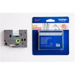 Páska BROTHER TZMQL35 White On Light Grey Mat Tape (12mm) (6ks) TZEMQL35