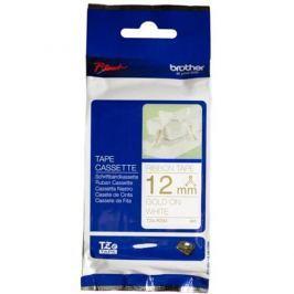 páska BROTHER TZeR234 zlaté písmo, biela stužková páska Tape (12mm)