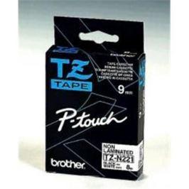 Páska BROTHER TZ-N221, biela / čierna (9mm nelaminované) TZN221