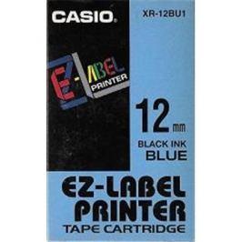 Páska CASIO XR-12BU1 Black On Blue Tape EZ Label Printer (12mm)