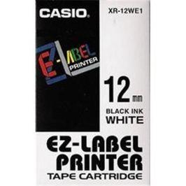 Páska CASIO XR-12WE1 Black On White Tape EZ Label Printer (12mm)
