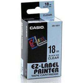 Páska CASIO XR-18X Black On Clear Tape EZ Label Printer (18mm)