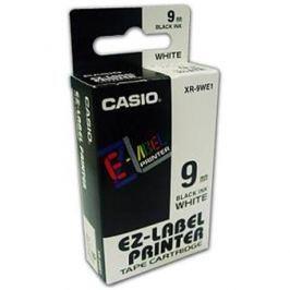 Páska CASIO XR-9WE1 Black On White Tape EZ Label Printer (9mm)