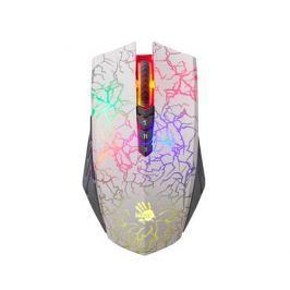A4tech BLOODY A60 Blazing herná myš, až 4000DPI, V-Track technológia, 160KB paměť, USB, CORE 2, biela A60White