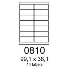 etikety RAYFILM 99,1x38,1 univerzálne biele R01000810F (1.000 list./A4) R0100.0810F