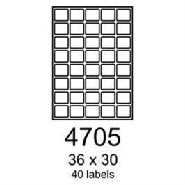 etikety RAYFILM 36x30 univerzálne biele R01004705F (1.000 list./A4) R0100.4705F