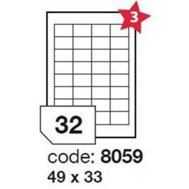 etikety RAYFILM 49x33 univerzálne biele R01008059A (100 list./A4) R0100.8059A
