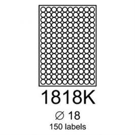 etikety RAYFILM 18mm kruh univerzálne zelené R01201818KA (100 list./A4) R0120.1818KA