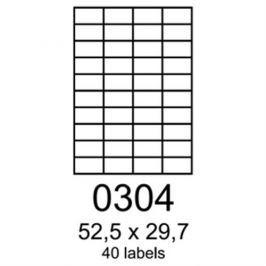 etikety RAYFILM 52,5x29,7 univerzálne žlté R01210304F (1.000 list./A4) R0121.0304F