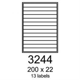 etikety RAYFILM 200x22 univerzálne červené R01223244F (1.000 list./A4) R0122.3244F