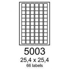 etikety RAYFILM 25,4x25,4 univerzálne červené R01225003 (100 list./A4) R0122.5003A