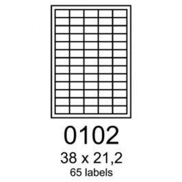 etikety RAYFILM 38x21,2 univerzálne modré R01230102F (1.000 list./A4) R0123.0102F
