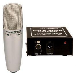 Štúdiový mikrofón Superlux CMH8D, 30Hz-20kHz, 48V fantóm, pad -10db, nastaviteľná charakteristika, strieborný + kufrík