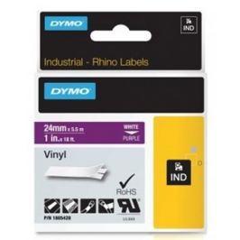 páska DYMO 1805428 PROFI D1 RHINO White On Purple Vinyl Tape (24mm)