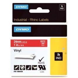 páska DYMO 1805429 PROFI D1 RHINO White On Red Vinyl Tape (24mm)