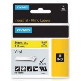 páska DYMO 1805431 PROFI D1 RHINO Black On Yellow Vinyl Tape (24mm)