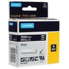 páska DYMO 1805436 PROFI D1 RHINO White On Black Vinyl Tape (19mm)