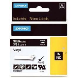 páska DYMO 1805437 PROFI D1 RHINO White On Black Vinyl Tape (9mm)