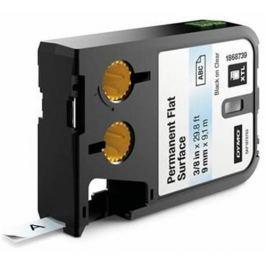 páska DYMO XTL 1868739 Black On Clear Permanent Flat Surface Tape (9mm)