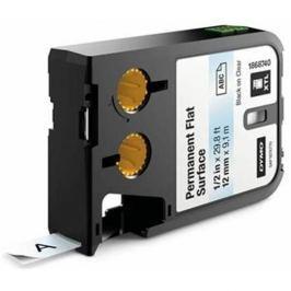 páska DYMO XTL 1868740 Black On Clear Permanent Flat Surface Tape (12mm)