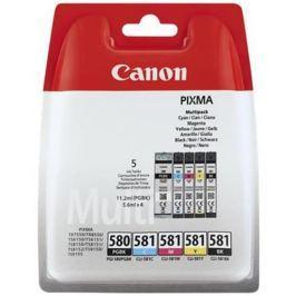 kazeta CANON PGI-580PGBK + CLI-581 BK/C/M/Y PACK TS6150/TS8150/TR7550/TR8550 2078C005