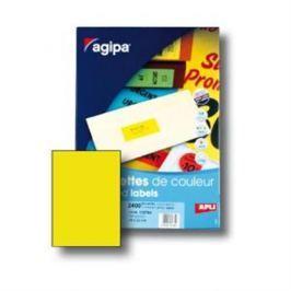 Etikety farebné 210x297mm Agipa A4 100 hárkov fluo žlté AG100754