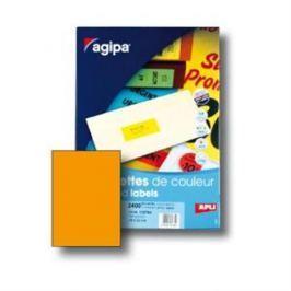 Etikety farebné 210x297mm Agipa A4 100 hárkov fluo oranžové AG100755