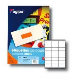 Etikety farebné 70x35mm Agipa A4 100 hárkov fluo oranžové AG100765