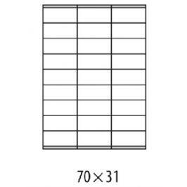 Etikety univerzálne 70x31mm Agipa A4 100 hárkov AG101122