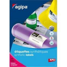 Etikety polyesterové 210x148,5mm Agipa A4 100 hárkov AG101167