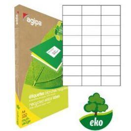 Etikety univerzálne recyklované 70x37mm Agipa A4 100 hárkov AG101187