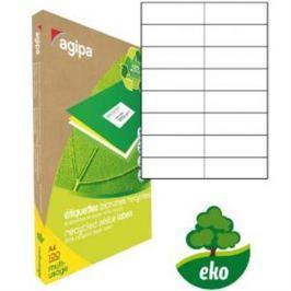 Etikety univerzálne recyklované 105x37mm Agipa A4 100 hárkov AG101190