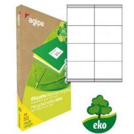 Etikety univerzálne recyklované 105x70mm Agipa A4 100 hárkov AG101192